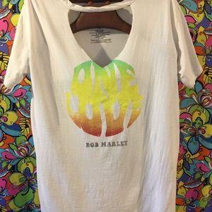 Ladies Bob Marley T Shirt